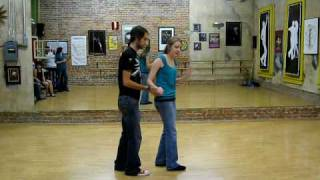 lindy hop, tandem charleston, change places, switch sides, left hand push