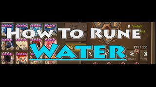 YDCB Summoners War - How To Rune (Water) November