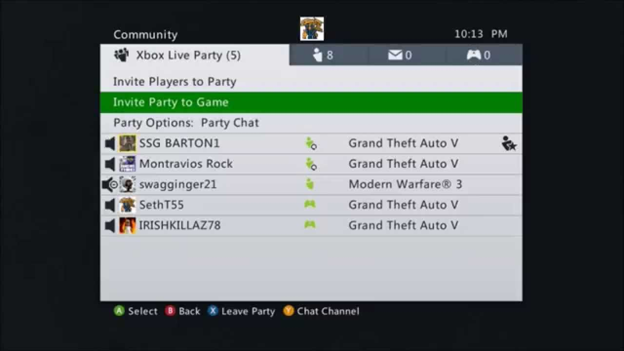 how to join an xbox live party
