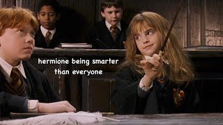 hermione granger being smarter than everyone