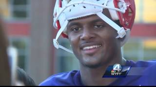 Clemson Life students hang out with the Tiger football team