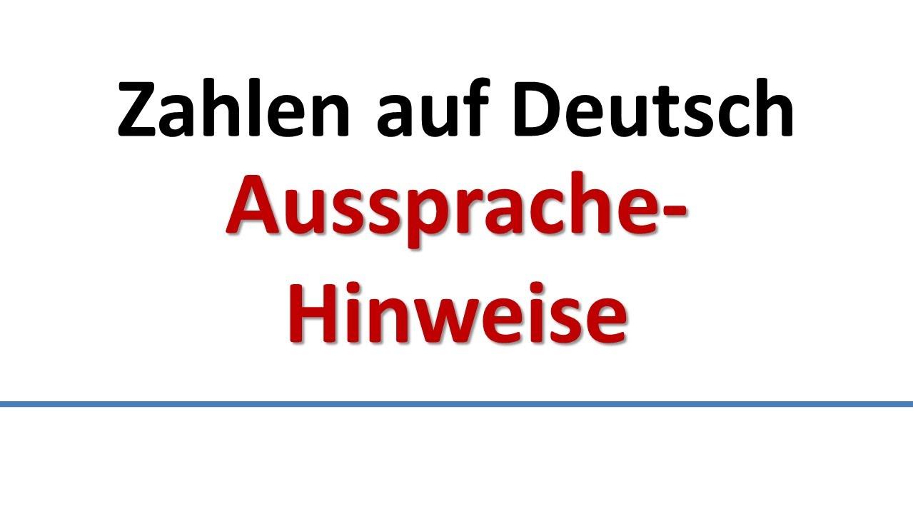 deutsch aussprache zahlen deutsche untertitel german pronunciation of numbers german subs. Black Bedroom Furniture Sets. Home Design Ideas