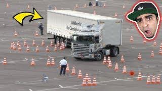 امهر و أفضل سائقي الشاحنات في العالم !!
