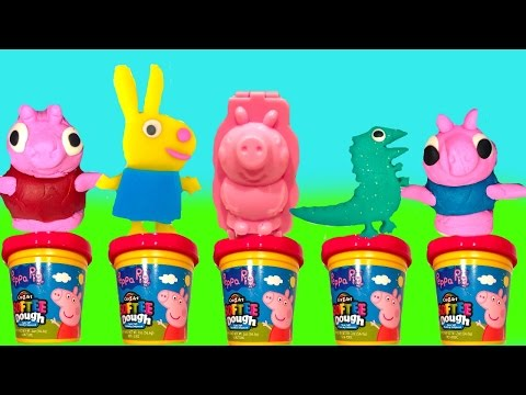 Thumbnail: Peppa Pig Softee Dough Play Doh 3D Mold and Play Playground with Toys
