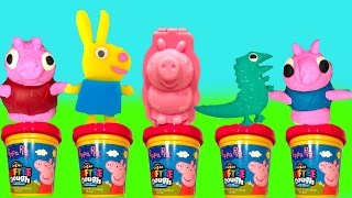 Peppa Pig Softee Dough Play Doh 3D Mold and Play Playground with Toys