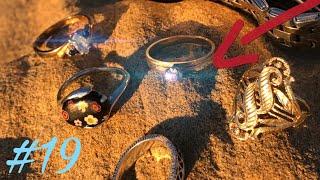 ANILLOS DE ORO, con diamante... encontrados en la playa