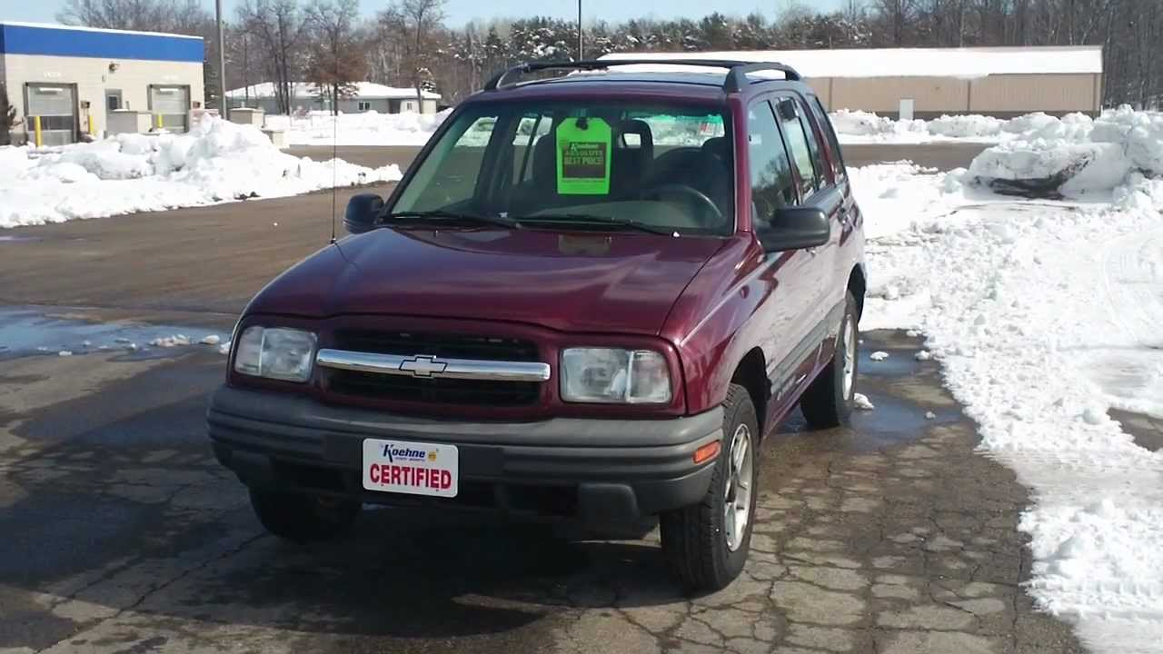 All Chevy 2002 chevrolet tracker parts : 2002 Chevrolet Tracker For Sale at Koehne Chevy, Marinette, WI ...