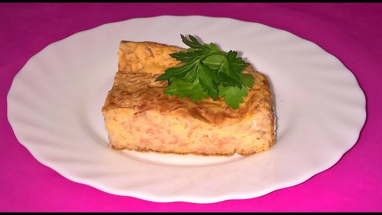 заливной пирог с сыром и колбасой на кефире