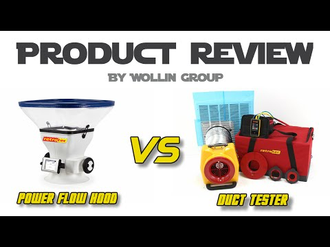 Review Retrotec Power Flow Hood vs Duct Tester