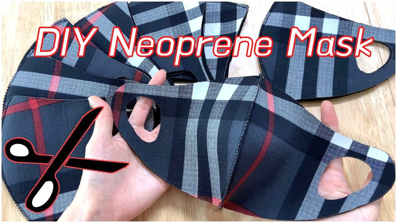 EASY DIY Neoprene FaceMask / Cut Fabric / Mask Pattern (Adults&Kids) / Simple & Easy
