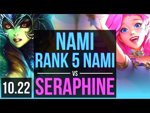 NAMI & Caitlyn vs SERAPHINE & Ashe (SUPPORT) | Rank 5 Nami, 3/3/13 | BR Challenger | v10.22