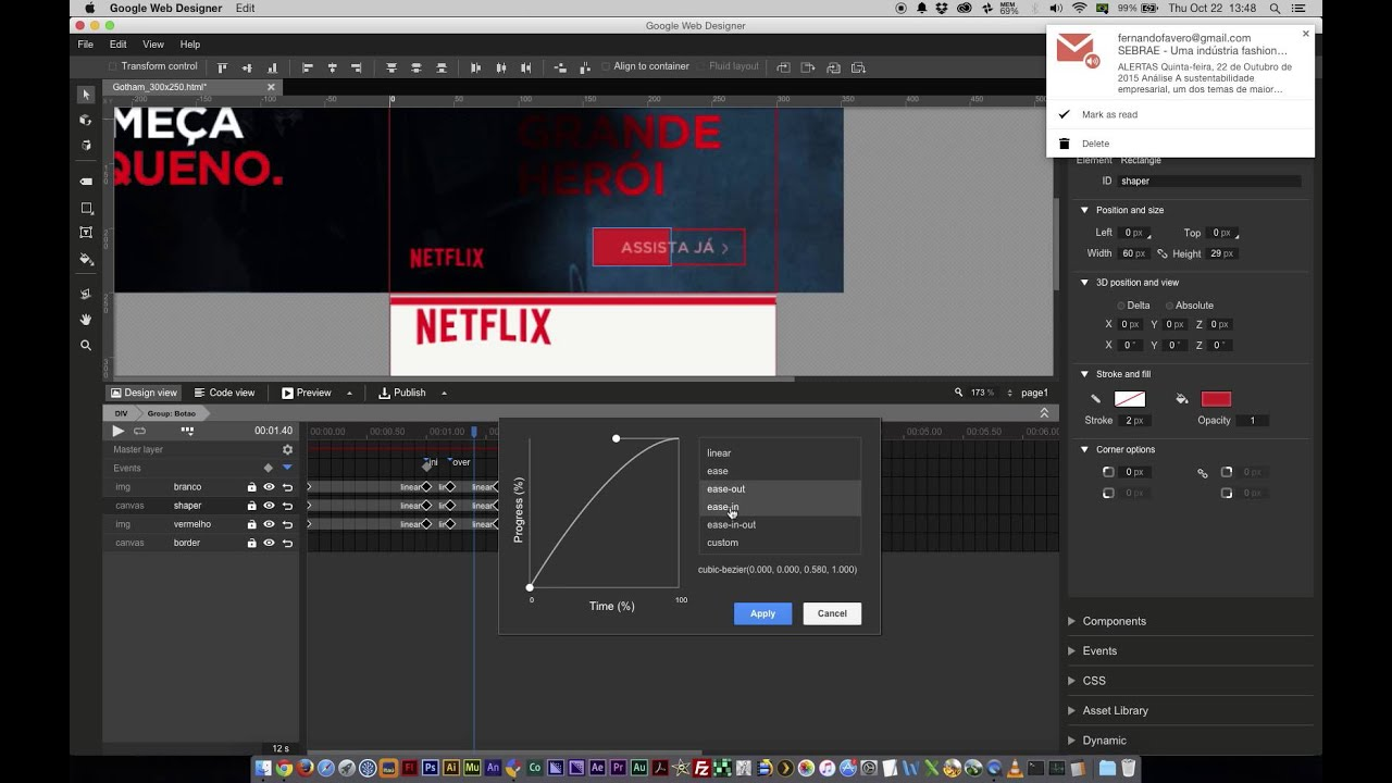 Google Web Designer - Mouse Over Efeito Animado - YouTube