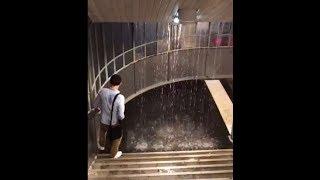 Orages violents sur Paris le métro inondé