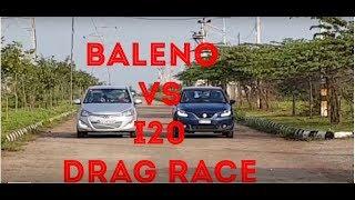 Maruti Suzuki Baleno Vs Hyundai i20 Drag Race Video
