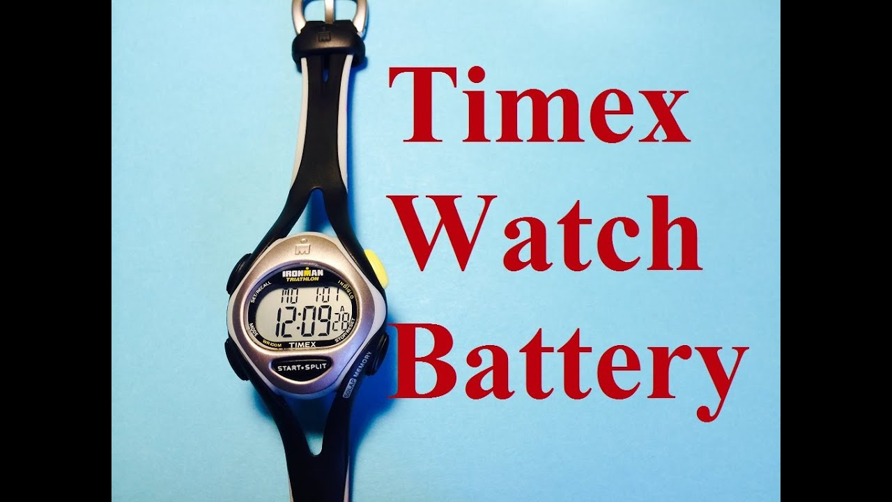 47fa1b920 Timex Battery Replacement - YouTube