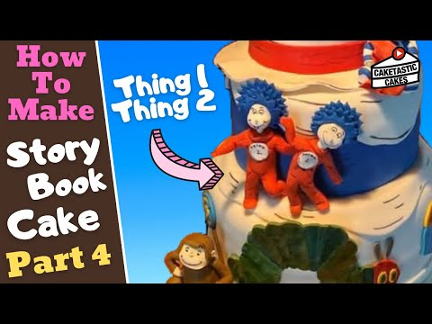 THING 1 THING 2 DR SEUSS Cake Decorating Tutorial -Part 4 How To Make CAT IN THE HAT Cake Decoration