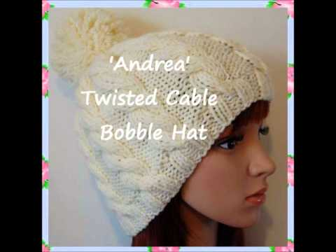 Knitting Pattern For Child s Bobble Hat : Andrea Chunky Yarn Unisex Bobble Beanie Hat Knitting Pattern Child Teen Adult...