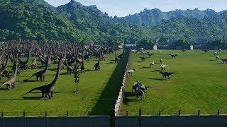 50 INDOMINUS REX vs 400 MAMENCHISAURUS - Jurassic World Evolution