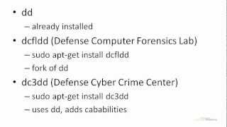 Ubuntu 12.04 Forensics - dd, dcfldd, And dc3dd Overview