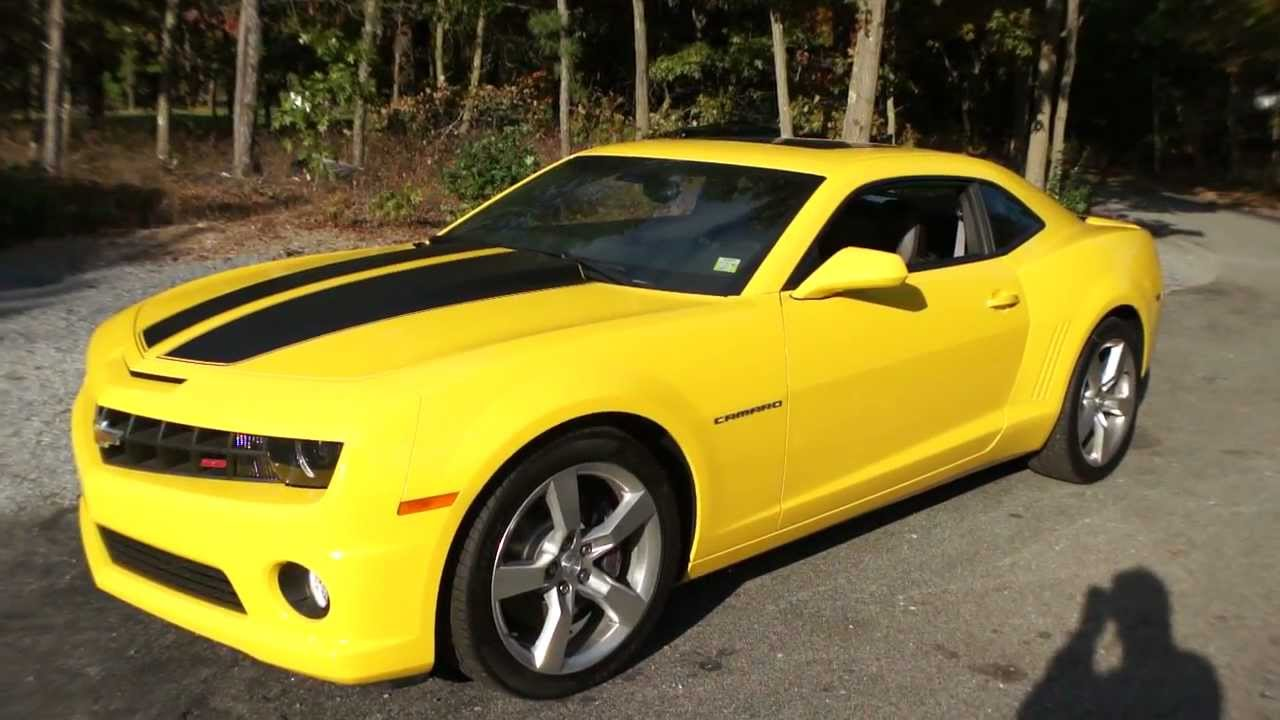2010 chevrolet camaro 2ss for sale yellow only 135 miles. Black Bedroom Furniture Sets. Home Design Ideas