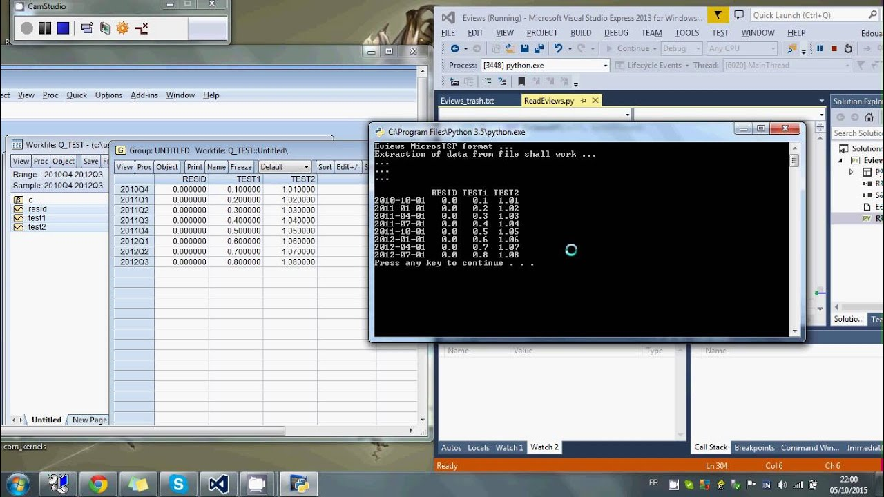 An Eviews workfile reader written in Python | Quant Corner