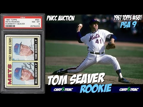 1967 Tom Seaver Topps #581 rookie cards for sale; graded PSA 9.