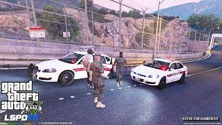 GTA 5 - LSPDFR - EPiSODE 68 - LET'S BE COPS - FORT ZANCUDO PATROL (GTA 5 PC POLICE MODS) MARINES