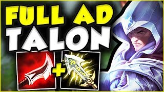 Full AD Talon Top Gameplay! League of legends Talon gameplay! ▻▻LIK...