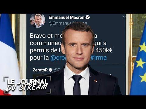 EMMANUEL MACRON RÉAGIT AU #ZEVENT - Le Journal du Stream #4.1
