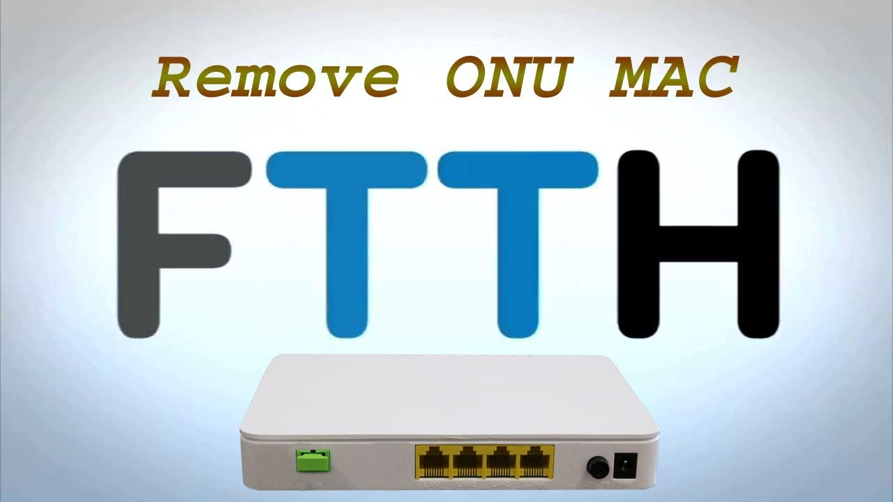 How to remove ONU MAC Address From OLT Interface