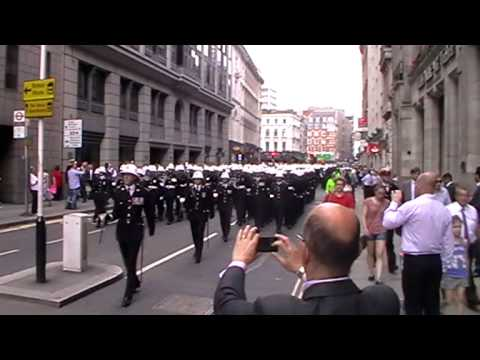Royal Marines 350 Freedom of City of London March - July 2014