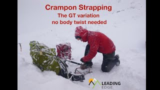 A different way to strap on your crampons