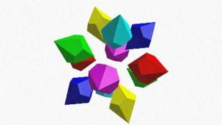 ねじれ双五角錐12個の接合体