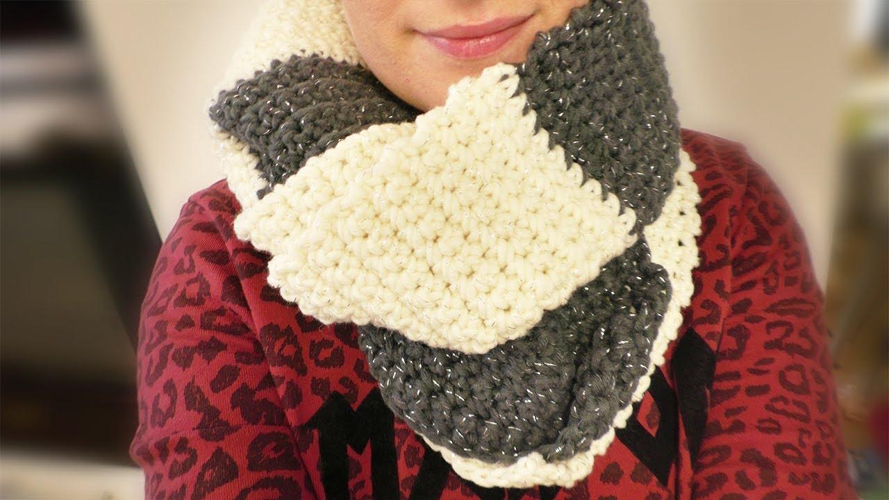 Häkeln Winter Schal Aus Myboshi Glitzer Wolle Super Einfach