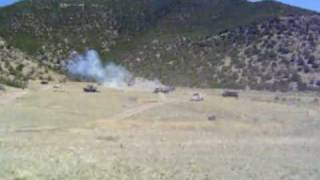 shooting cars with minigun Full Automatic army Rangers