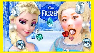 Pretend Play Frozen Elsa make up and dress up with  kids ごっこ遊び エルサ メイクアップ なりきり 子供向け アナと雪の女王