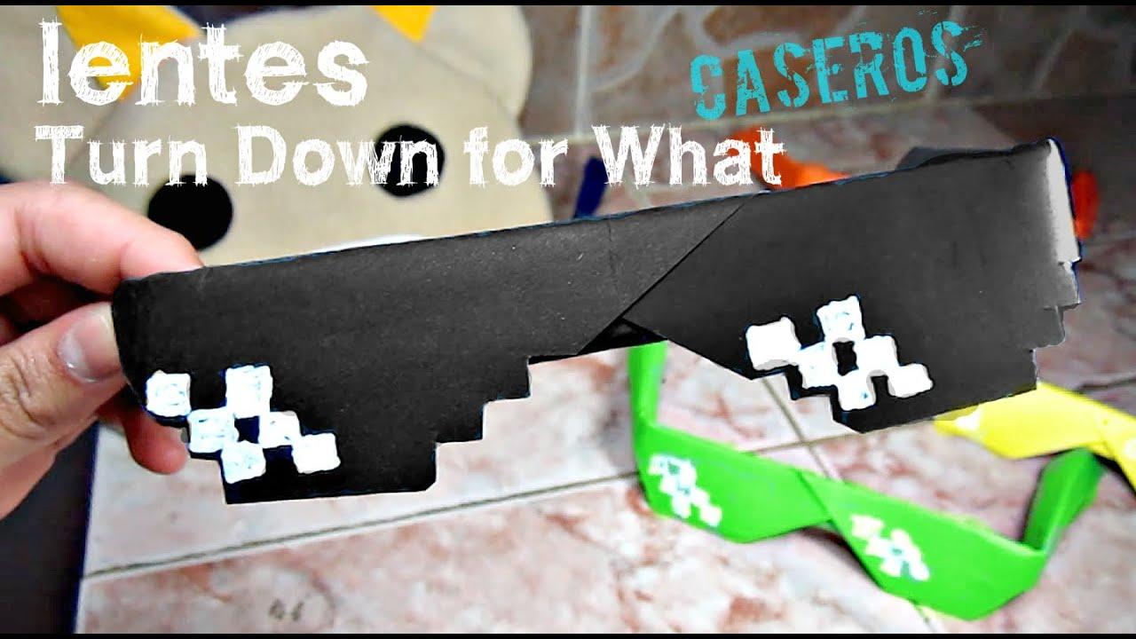 Como Hacer Lentes Turn Down For What CASEROS Origami de papel