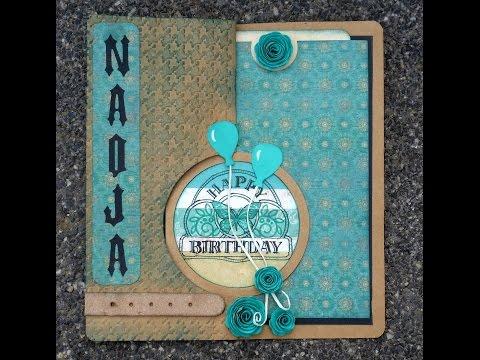 Spiral circle pull card | Tutorial vom grünen Wicht | Karen Burniston - Elizabeth craft design