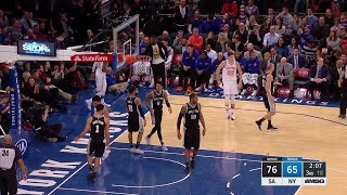 3rd Quarter, One Box Video: New York Knicks vs. San Antonio Spurs