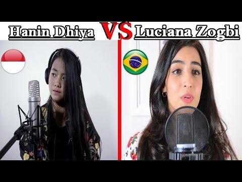 Something Just Like This - Coldplay & Chainsmokers - Hanin Dhiya VS Luciana Zogbi
