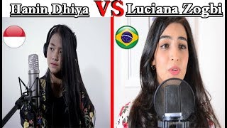 Something Just Like This ColdplayChainsmokers Hanin Dhiya VS Luciana Zogbi