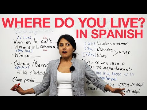 Learn Spanish - Talking about where you live