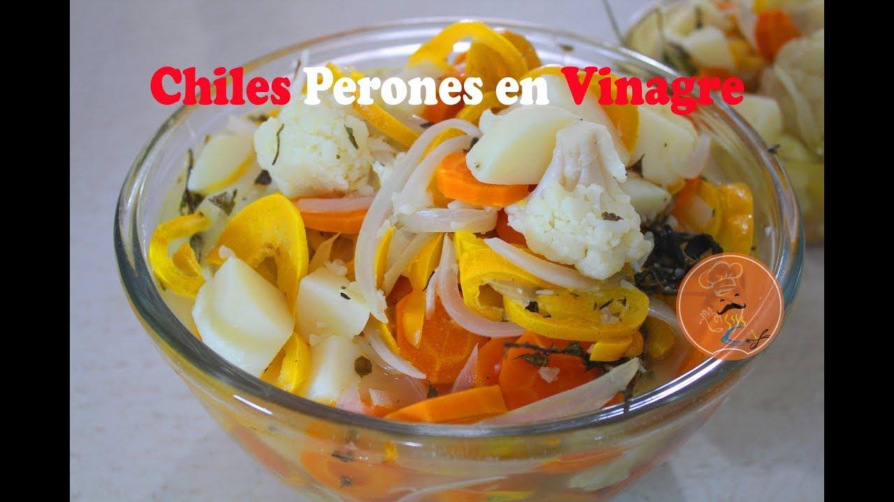 Receta Fácil de Chiles Perones en Vinagre | Chiles en Escabeche