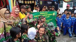 Koramil 1007 01/BT Ajak Murid TK dan SD Jalan-jalan ke Bank Sampah