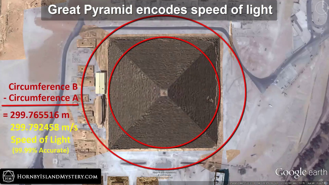 Hornby Island Mystery Great Pyramid Encodes Speed of Light