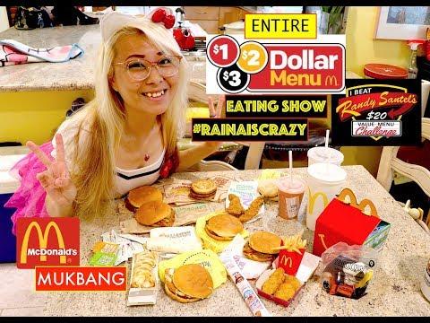 Entire $1 $2 $3 Value Menu of McDonalds MUKBANG EATING SHOW | $20 Randy Santel Value Menu Challenge