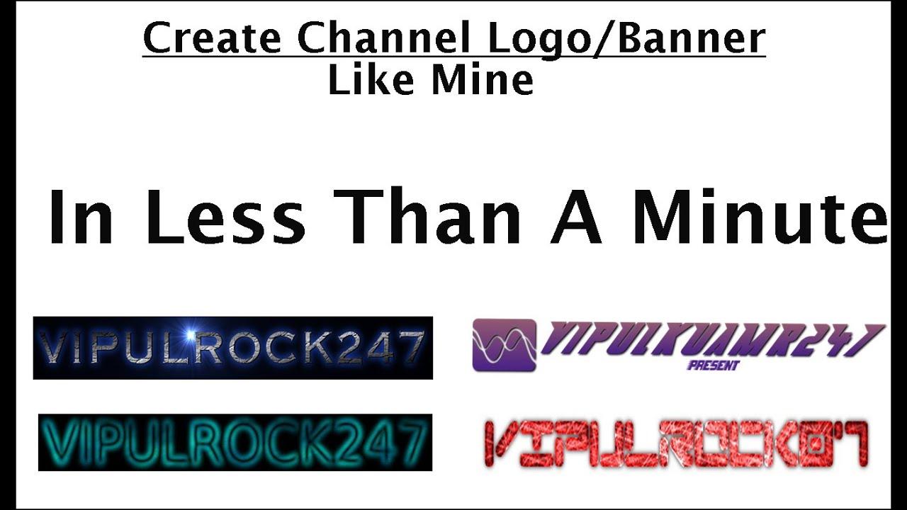 create logobanner online  youtube