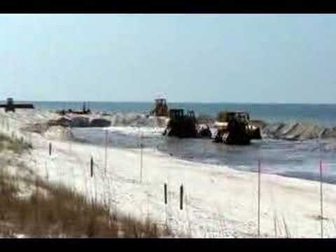 Beach Renourishment At Cape San Blas