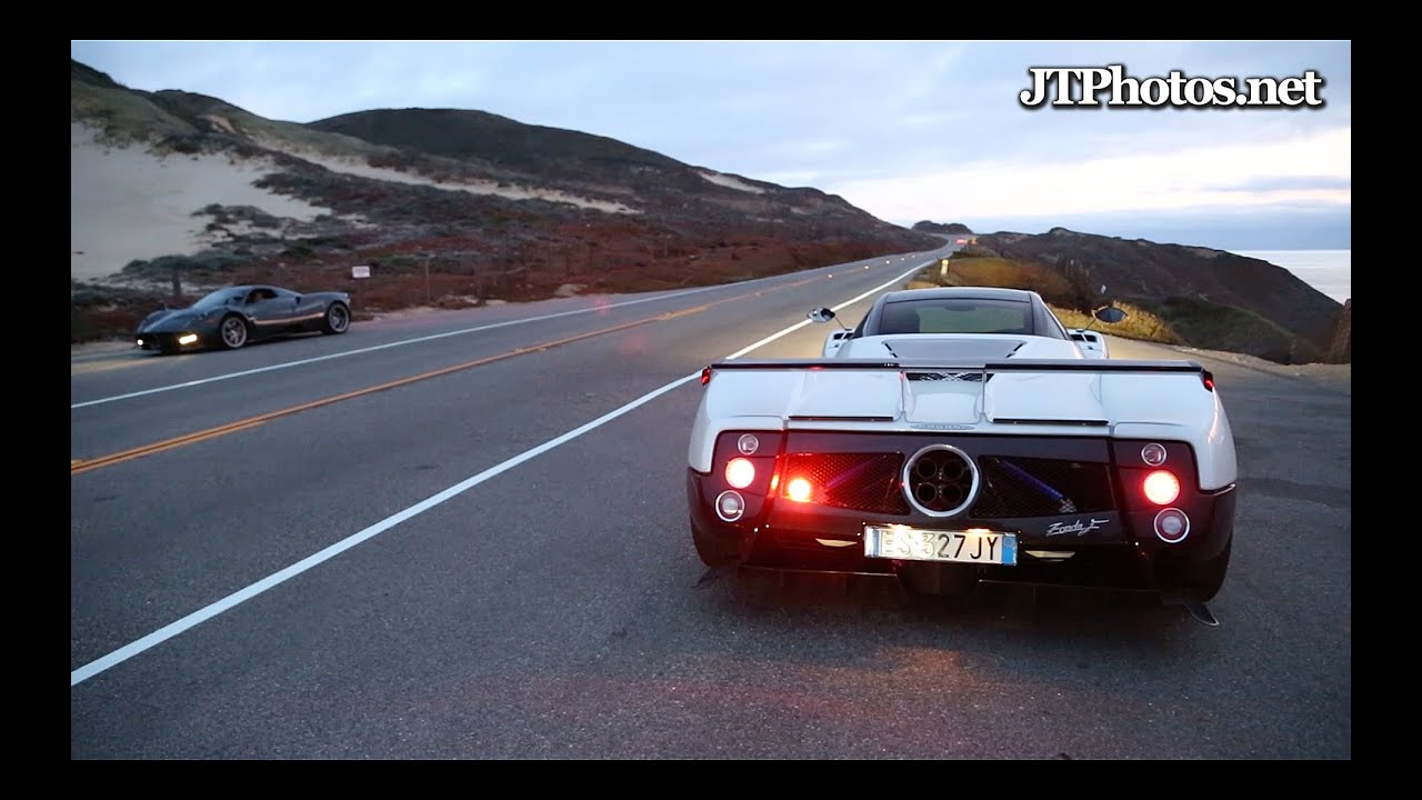 Pagani Zonda F revving and acceleration - YouTube