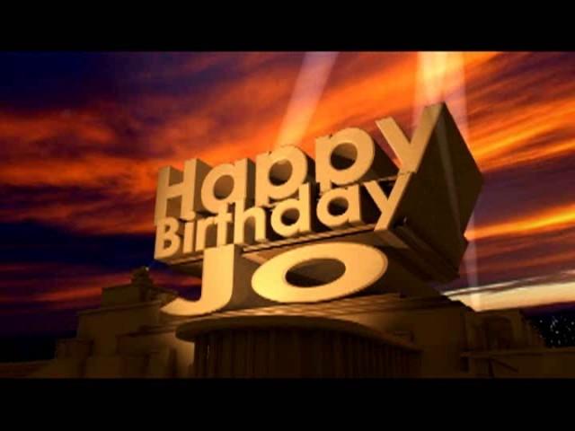 Happy Birthday Jo Youtube